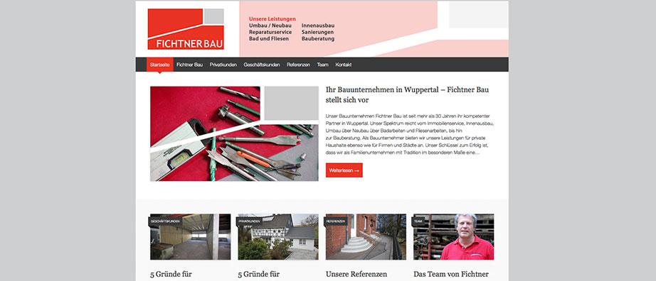 Bauunternehmen Wuppertal internetseite bauunternehmen fichtner bau